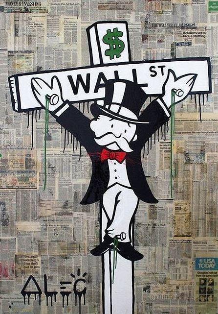 "Alec Monopoly Amazing HD print on Canvas Urban art Decor Crucified 20x30"" Inch"