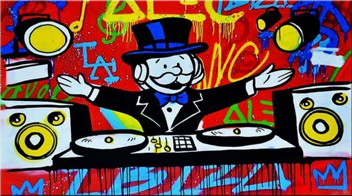 Alec Monopoly Amazing HD Print on CANVAS Abstract Urban art Wall Decor DJ 20x40""