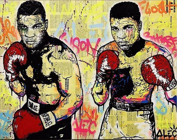 "Alec Monopoly Amazing HD print on Canvas Urban art decor Boxers Ali Tyson 28x36"""