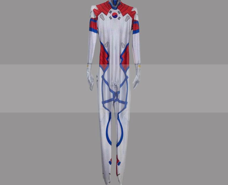 Overwatch dva skin taegeukgi cosplay zentai suit buy