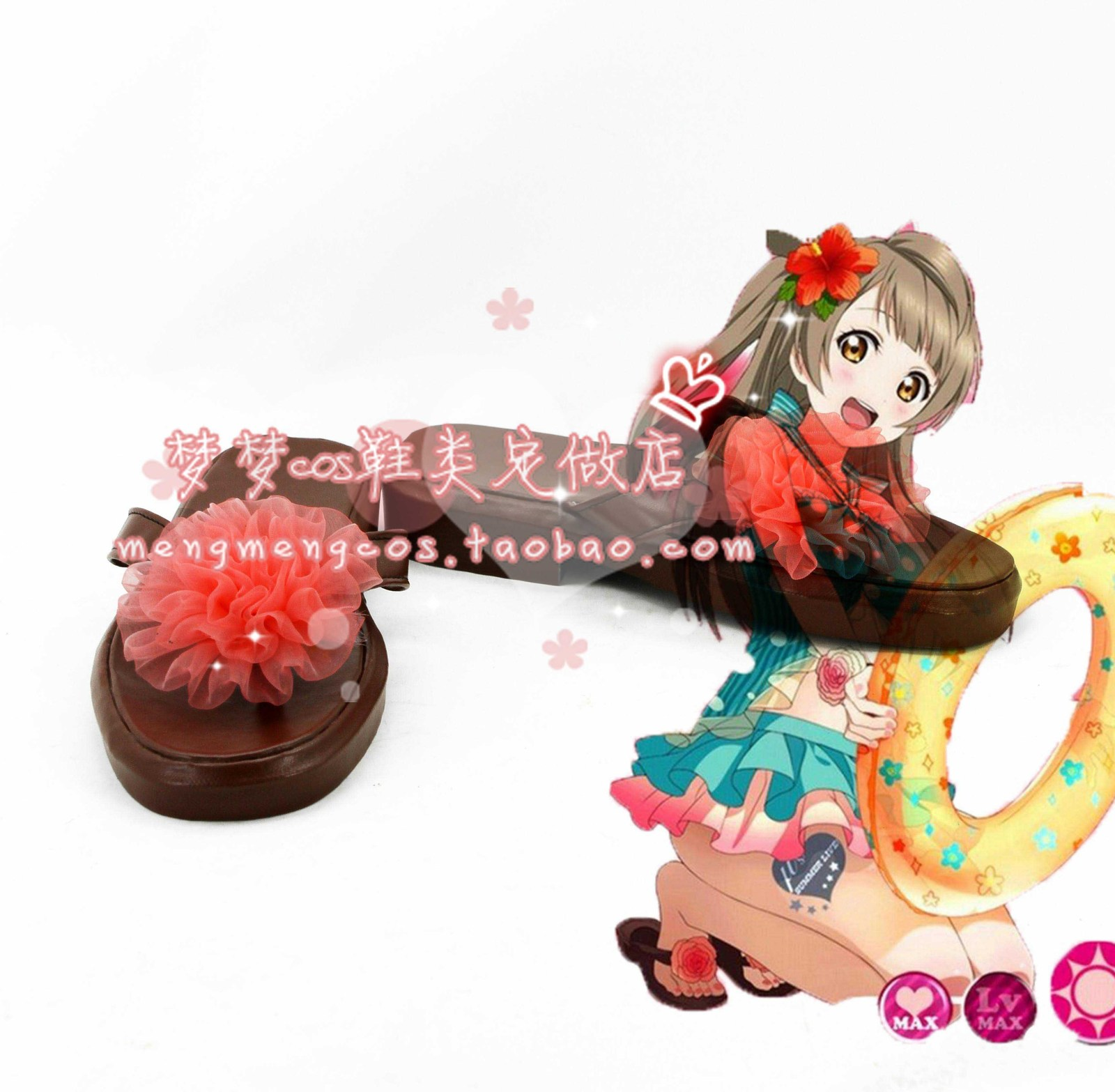 lovelive love live Kotori Minami swimming wear cos Cosplay Shoes boots #AT16