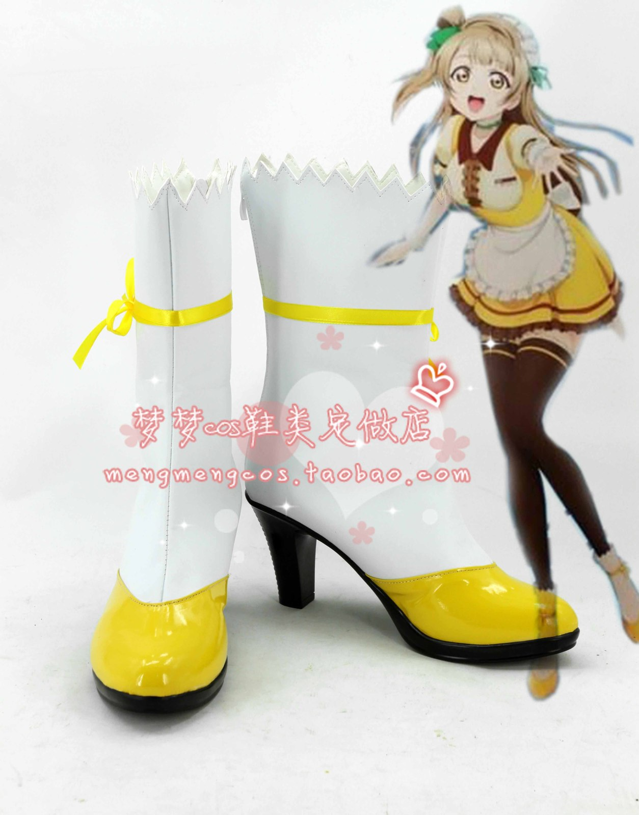 lovelive love live Kotori Minami coffee bar cos Cosplay Shoes boots shoe  #AT17