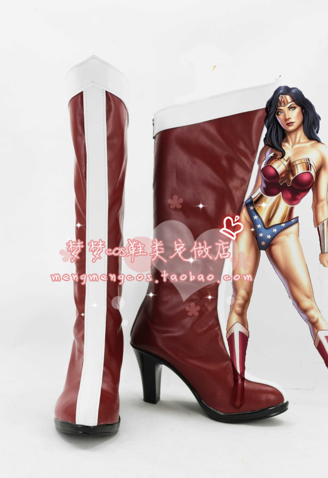 Justice League Wonder Woman new cos Cosplay Shoes boots shoe boot #AT22