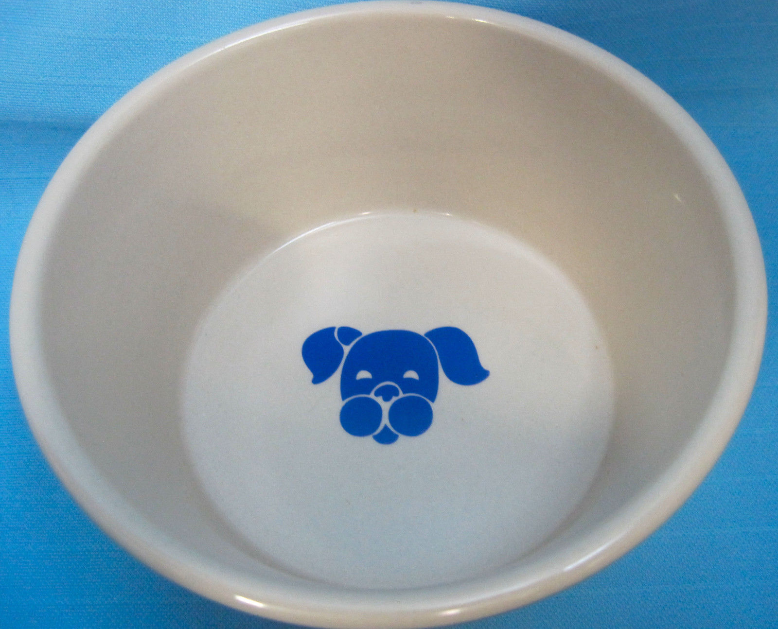 Bone & Paws Puppy Dog Stoneware Water Bowl Dinner Dish 6""