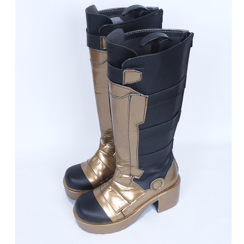 Overwatch soldier 76 golden skin cosplay boots for sale