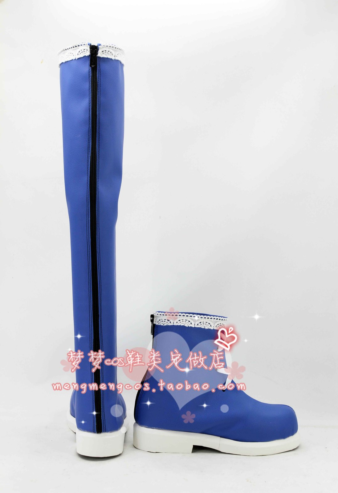 VOCALOID SNOW MIKU Hatsune Miku blue  cos Cosplay Shoes boots shoe boot #AT25
