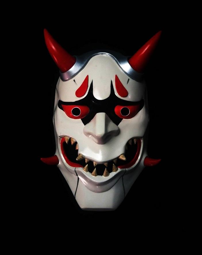 Overwatch genji skin oni mask cosplay for sale