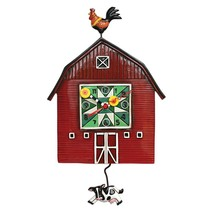 Allen Designs Red Barnyard Swinging Cow Pendulum Child Kids Whimsical Wa... - $56.00
