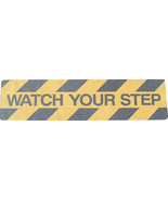 Adhesive Anti-Slip Stair Treads WATCH YOUR STEP 150mm x 610mm Pack of 5 - $48.09