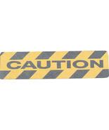 Adhesive Anti-Slip Stair Treads CAUTION Black/Yellow 150mm x 610mm Pack ... - $48.09
