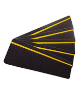 Anti-Slip Stair Treads 150mm x 610mm Black with Yellow Reflective Strip ... - $105.68