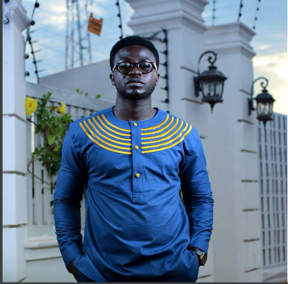 Blue & Gold Men's Long Sleeve Shirt African Clothing Men's Wear Men's Fashion
