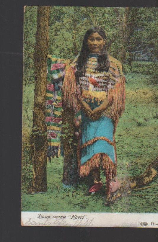 Xiowa Squaw Havta 1907 Postcard Native American