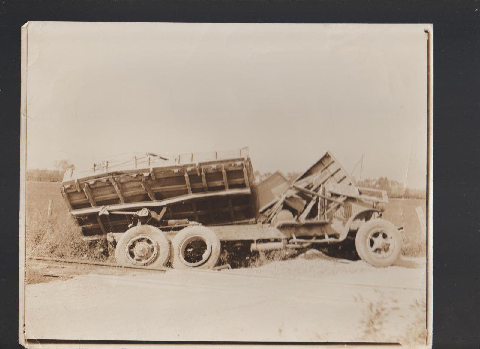 Truck Crash Vintage Photograph 8x10
