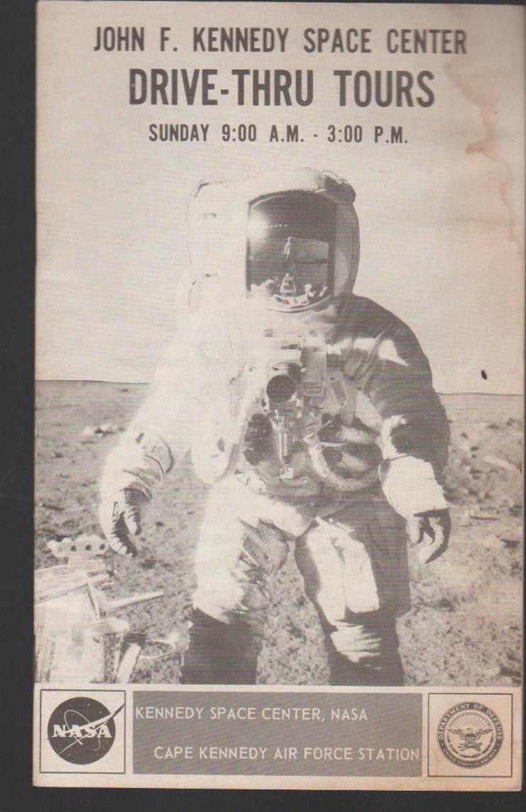 John F Kennedy Space Center Drive-Thru Tours Booklet NASA 1970s