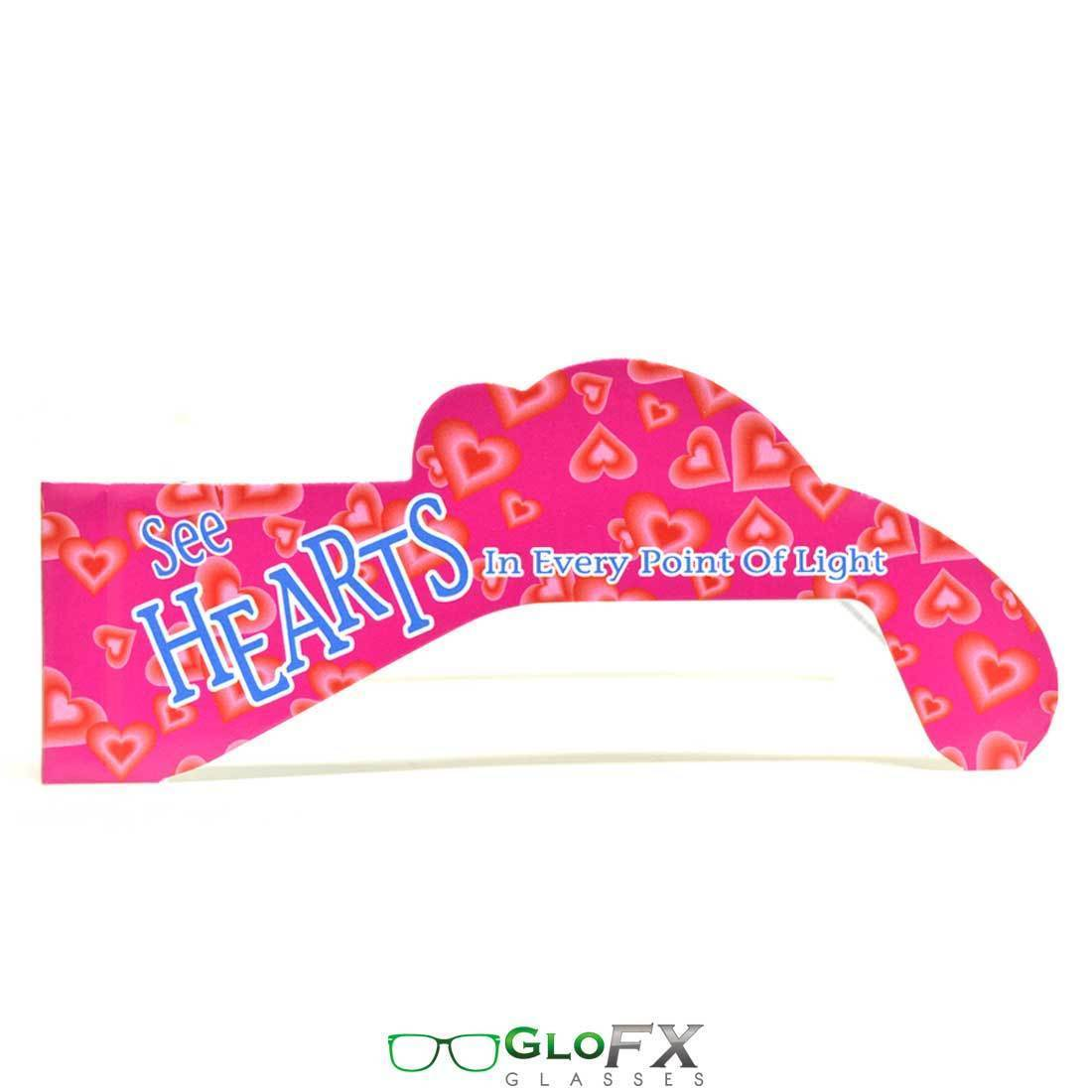 5 Pack GloFX Heart Effect Paper Cardboard Diffraction Glasses Bright Heart