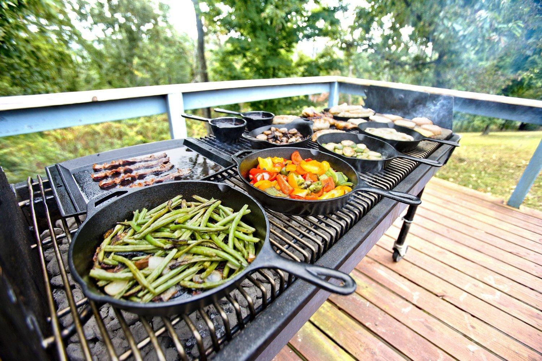 "Mini Cast Iron Pan Skillet Kitchen Cookware Fry Egg Vegetable 3 Piece Set 3.5"""