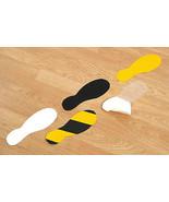 Anti-Slip Feet Self-Adhesive Footprints 240 x 90mm Yellow/Black/Clear Pk 10 - $31.94+