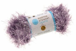 Martha Stewart Crafts Lion Brand Yarn Lot 12 Glitter Eyelash Purple Silv... - $25.04 CAD