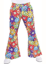 "Gents 70's Flares - ""Hippy Smile"" design   Flared Trousers - $28.00"
