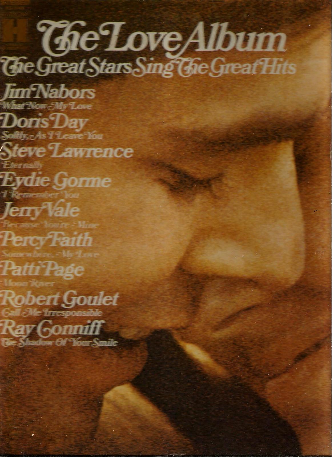 THE  LOVE  ALBUM  * ROBERT GOULET ~ JERRY VALE ~ DORIS DAY * more  LP STEREO