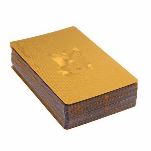 1 Pack - 24K Gold-Foil Plated Waterproof Poker Cards