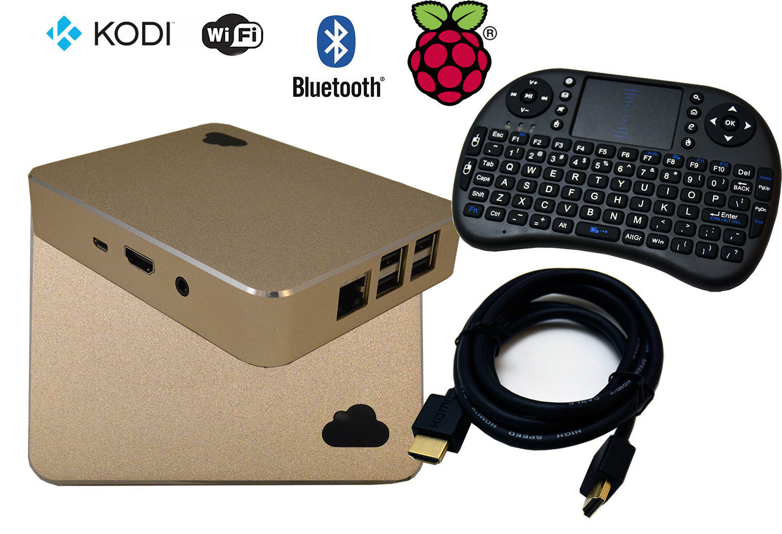 Voodoo Pi Raspberry Pi 3 model B TV Box, XBMC Fully Loaded KODI 17.3 PPV Movies