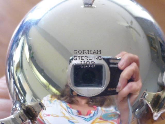 """Pr Gorham Sterling Silver Footed Salt & Pepper Shaker Caster 4.5"""" tall  4oz"""
