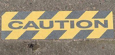 Adhesive Anti-Slip Stair Treads CAUTION Black/Yellow 150mm x 610mm Pack of 5