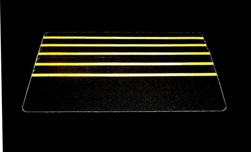 Anti-Slip Stair Treads 150mm x 610mm Black with Yellow Reflective Strip Pk=5