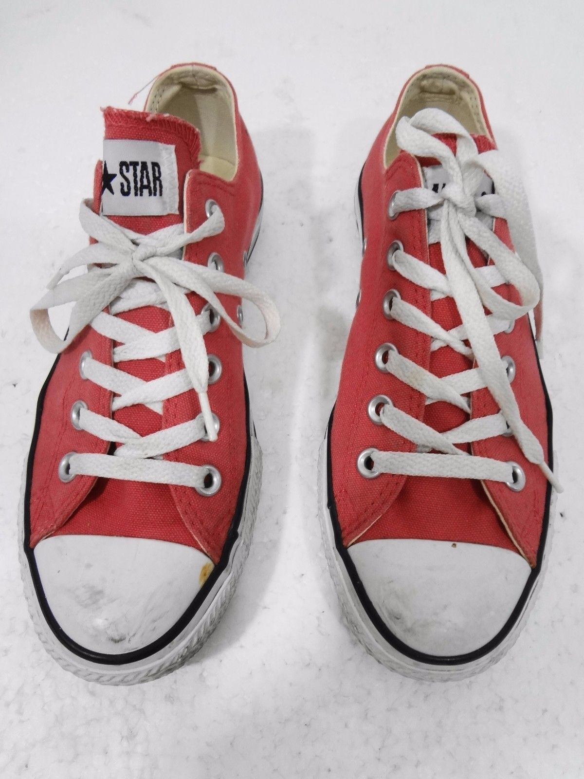 Converse All Star Mens 5.5, Womens 7.5 Pink Canvas Sneakers Gym Shoes