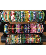 * USA 10 SET Nepal Rolls Glass See Bead Bracelet crochet handmade bangle... - $29.69