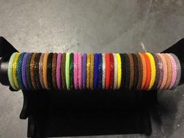 * USA 50 SET Nepal Rolls Glass Seed Bead Bracelet crochet handmade bangle Solid - $123.75