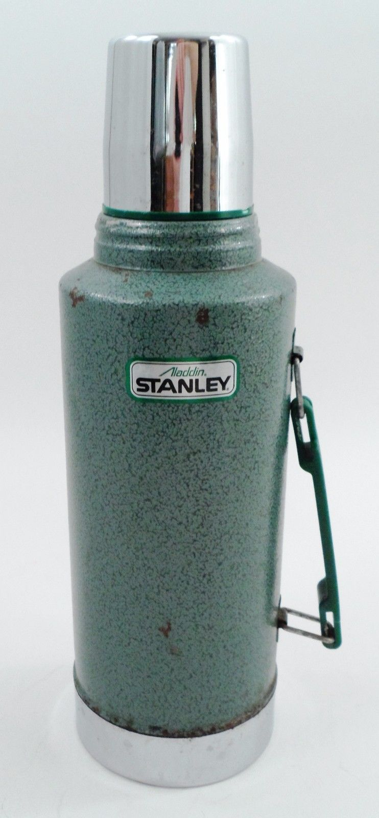 Clean Heavy Duty Classic Aladdin Stanley 1/2 Gallon Green Metal Thermos A945DH