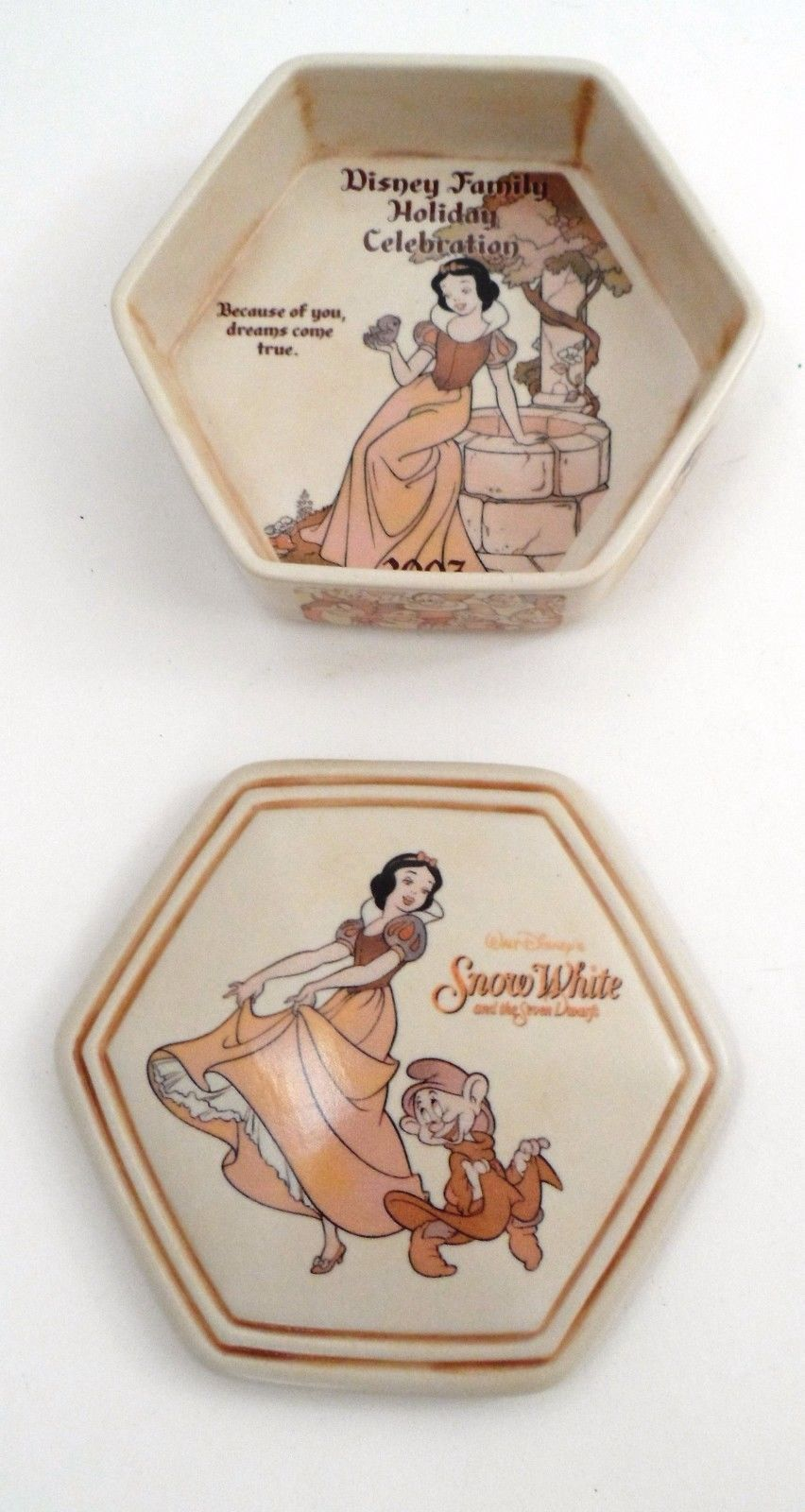 2007 Walt Disney 70th Family Holiday Celebration Princess Snow White Trinket Box