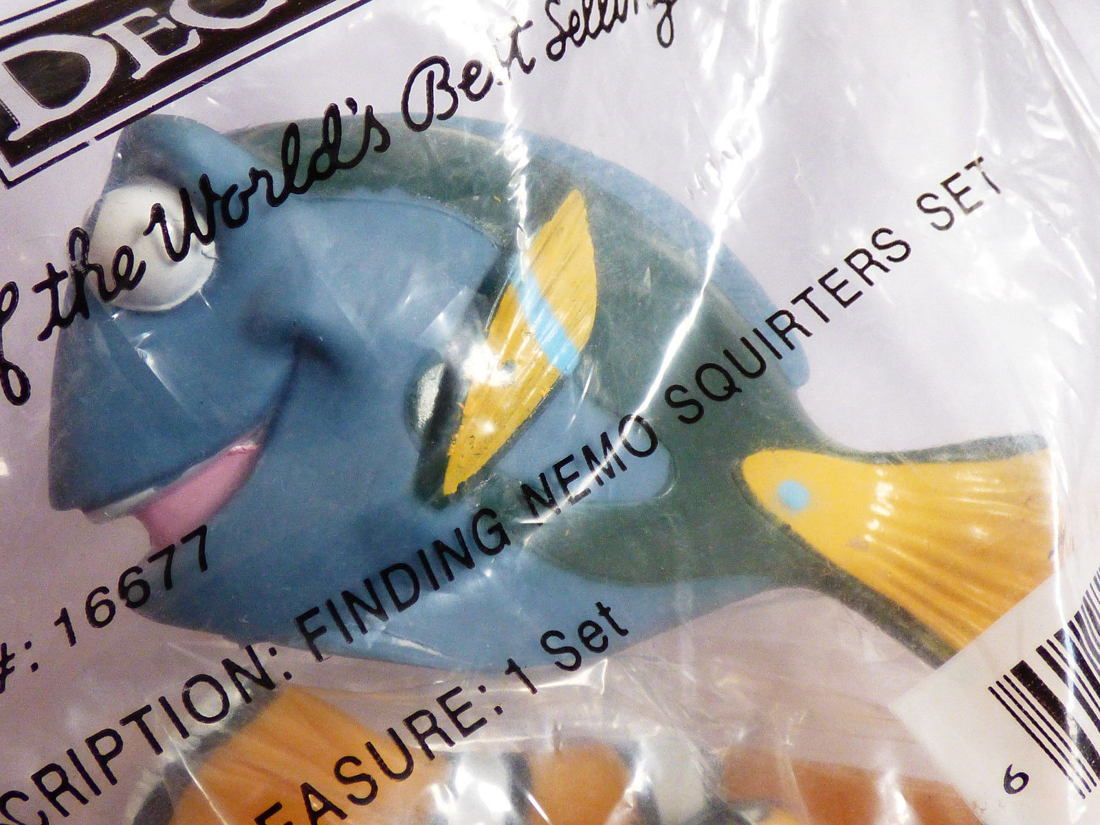 Bakery DecoPac Finding Nemo Squirters Toys Cake Kit Toppers NIB