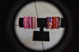20 SET Nepal Rolls Glass Beaded bracelet crochet handmade bead bangle USA Exact - $39.60