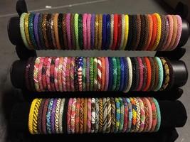 Nepal Bracelet glass Seed Bead Roll On Bracelet 10 handmade bracelet Ran... - $23.75
