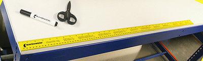 Self Adhesive Ruler 1 Metre (1M) Yellow - Workshop Ruler