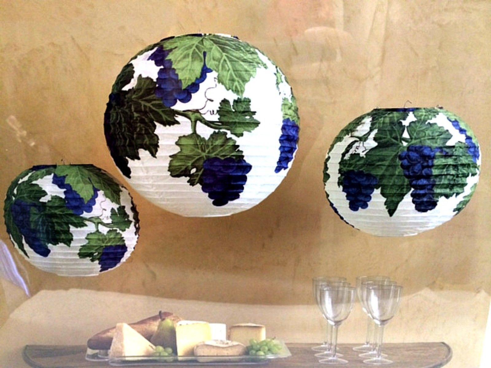 Martha Stewart 3 Paper Lanterns Wine Party Home Celebrations Decoration Kit