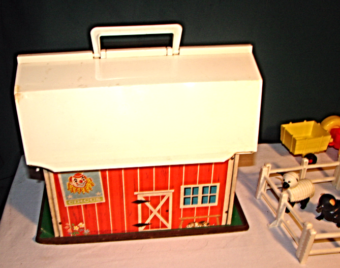 Vintage 1967 Fisher Price Family Farm & Accessories