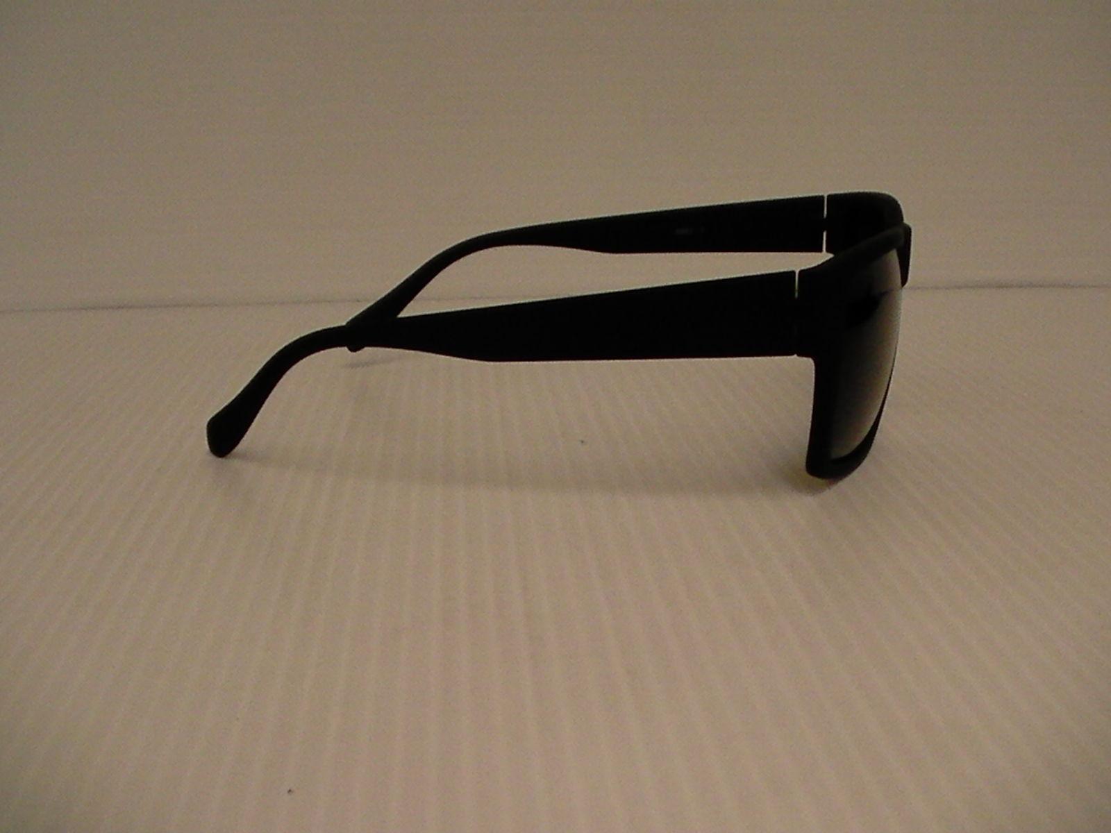 Fashion men's sunglasses square sport matte black frame gray polarized lenses