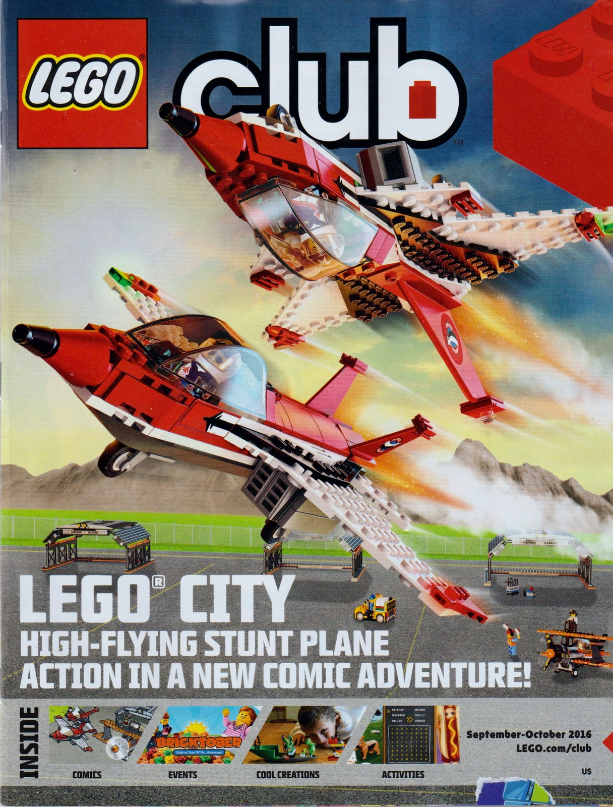 Lego Club Magazine September October 2016 NEW Stunt Plane, Angry Birds,Star Wars
