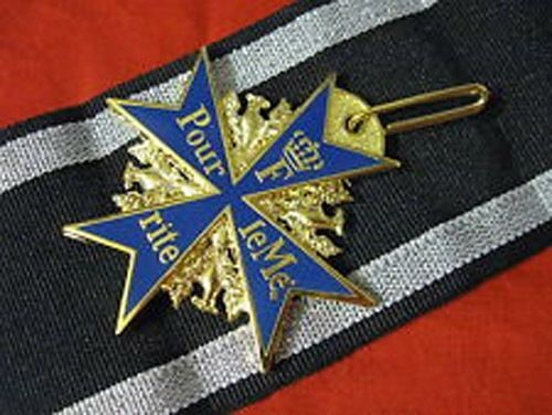Order of Pour le MeriteThe Blue Max Highest Order of Prussia Merit replica