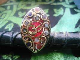HAUNTED Rare Egyptian Marid Temple Djinn, Female very old adjustable OM ring siz - $150.00