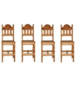 "QTY 4 30"" WOOD SEAT STAR BAR STOOL Rustic Western Real Solid Wood Lodge ... - $692.99"