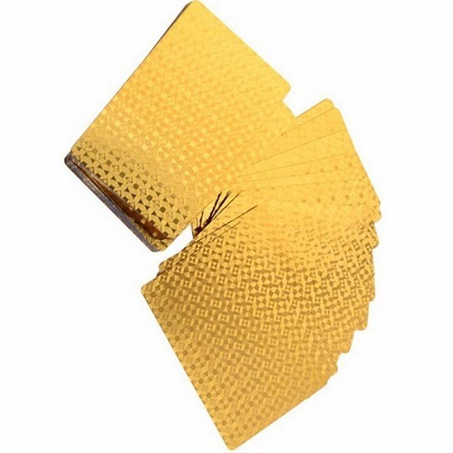 8 Pack - 24K Gold-Foil Plated Waterproof Poker Cards