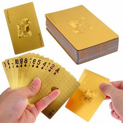 24k gold foil plated cards 1