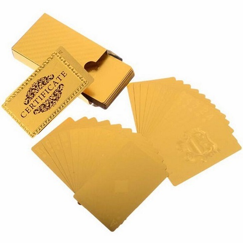 30 Pack - 24K Gold-Foil Plated Waterproof Poker Cards