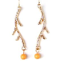 Willow Tree Branch Orange Fruit Lovely Sweet Elegant Drop Dangle Earring... - $7.99